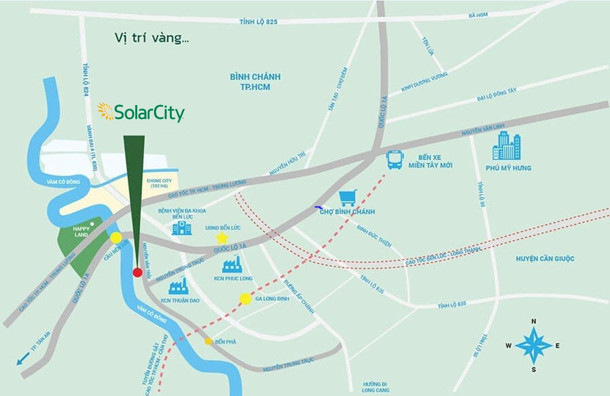 Solar City sở hữu vị trí đắc địa bậc nhất