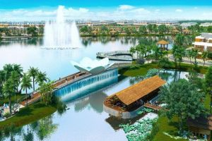 Hồ thủy sinh chính là tâm điểm của dự án